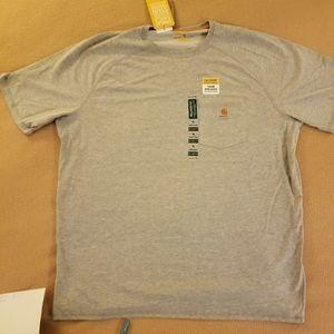 NWT. Gray Mens's XL carhartt T-shirt